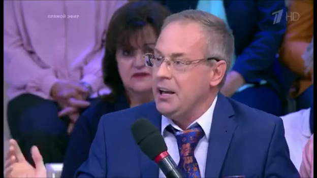 Евгений Змиев на телепередаче
